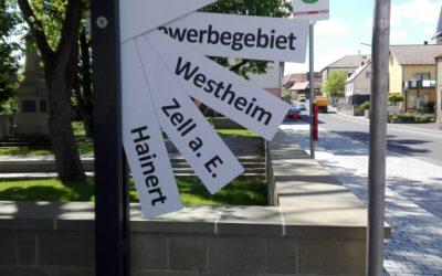 Mitfahrbänke für die Gemeinde Knetzgau